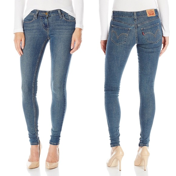 2a97f22e947 Levi s 535 Super Skinny Jeans in Mid Roast